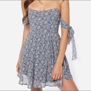For Love and Lemons Blue Floral Dress